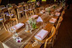 TotallyTipi rustic pine tables Leeds wedding