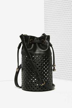 Nasty Gal x Nila Anthony Tila Perforated Bucket Bag
