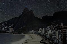 ipanema beach in the night | Reconhece a paisagem? Essa foto é uma simulação de como a paisagem ...