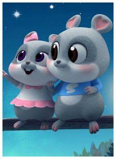 Cute Bunny Cartoon, Cute Love Cartoons, Girl Cartoon, Cartoon Art, Cute Black Wallpaper, Bear Wallpaper, Cute Squirrel, Squirrels, Cute Rabbit Images