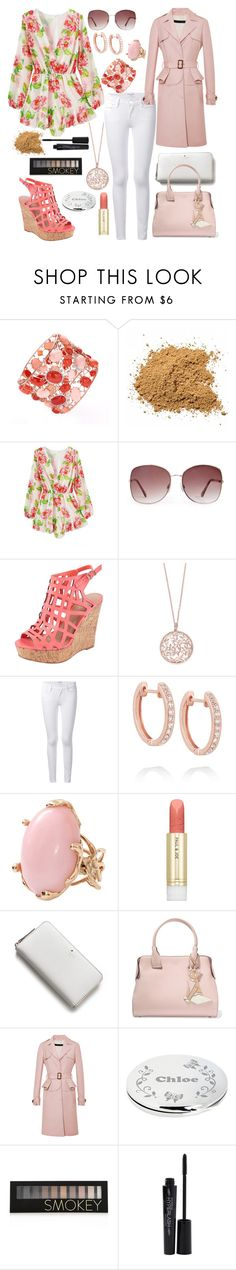 """""""Shabby Chic"""" by valecontarino ❤ liked on Polyvore featuring Forever 21, Charles by Charles David, Effy Jewelry, Frame Denim, Anita Ko, Lucifer Vir Honestus, Paul & Joe Beaute, Kate Spade, Tod's and Elie Saab"""