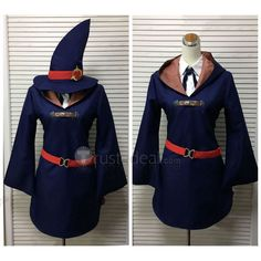 Blue and White Cosplay Costume for yourLittle Witch Academia Akko Sucy Lotte Dianacosplay http://www.trustedeal.com/Little-Witch-Academia-Witch-Cosplay-Costumes.html