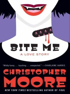 Christopher Moore is a cult writer who has written Dirty Jobs, one of the funniest books I've read.  Bite Me is the third book in the Bloodsucking Fiends trilogy and very obviously about vampires.  Additionally, it involves vampire cats, an emo goth chick, her boyfriend Foo Dog, and all sorts of crazy characters that makes Christopher Moore's books a great read. #books