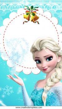 Cartão de Natal Frozen Princesa Elsa