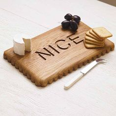 biscuit platter board by squarepear furniture | notonthehighstreet.com