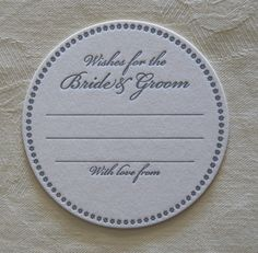 30 Wishes for the Bride and Groom Coasters  by LetterpressArt