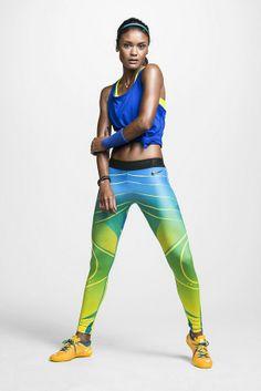 La panoplie Nike de la supportrice brésilienne pour la Coupe du Monde!