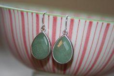 Amazonite Silver Earrings by jKlausdesigns on Etsy, $26.00