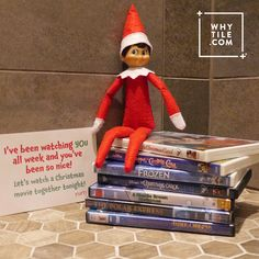 What a nice surprise! Movie night with your elf!