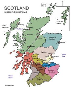 map of Scotland and the outer hebrides Scotland Map, Scotland History, England And Scotland, Scotland Travel, Uk History, Scotland Castles, History Facts, Family History, Scottish Gaelic