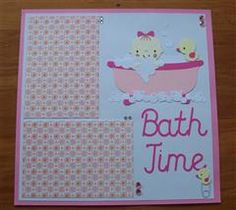 New Baby Bath Time Scrapbook Layouts Ideas Album Scrapbook, Disney Scrapbook, Scrapbook Frames, Baby Girl Scrapbook, Baby Scrapbook Pages, Diy Teddy Bear, Baby Bath Time, Diy Baby Gifts, Crafts With Pictures