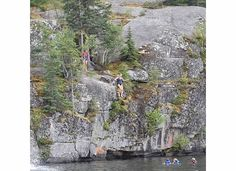 me, cliff jumping Shutterfly, Cliff, Ontario, Painting, Art, Art Background, Painting Art, Kunst, Paintings
