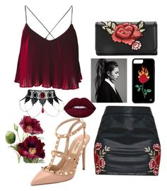#black&red💋by ❤️angel1324❤️on Polyvore featuring polyvore, fashion, style, Valentino and clothing