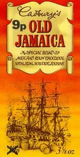 old jamaica chocolate bar - I always used to buy this for my Dad for his Christmas present