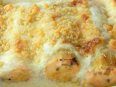 Cannelloni de poireaux à la truite fumée et au saumon, crumble au parmesan Mashed Potatoes, Macaroni And Cheese, Pizza, Parmesan, Vegetables, Cooking, Ethnic Recipes, Food, Journal