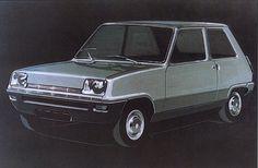 OG | 1972 Renault 5 - Project 122 | Michel Boué's design sketch