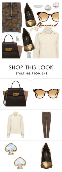 """Bronzed"" by stacey-lynne ❤ liked on Polyvore featuring ZAC Zac Posen, raen, TIBI, Karen Walker, Kate Spade, Pierre Balmain and Catbird"