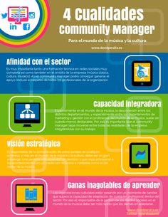 4 cualidades de un Community Manager para música y cultura #infografia #infographic #socialmedia