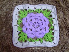 "Free pattern for this ""Flower Square""!"