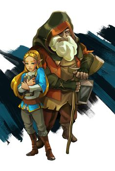 Zelda mysterious old man (King Rhoam)