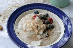 Creamy buckwheat nut and maca porridge