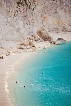 Porto Katsiki shore on Lefkada Island, Greece