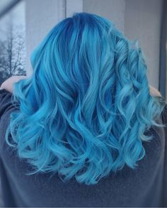 Ideas For Hair Color Crazy Blue Hairstyles Cute Hair Colors, Hair Dye Colors, Ombre Hair Color, Cool Hair Color, Blue Hair Balayage, Vivid Hair Color, Blonde Hair, Pelo Color Azul, Pulp Riot Hair Color