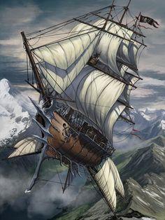 Skyship by BenWootten on DeviantArt