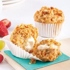 Muffins carottes, érable et noix - Les recettes de Caty Finger Food, Scones, Biscotti, Food And Drink, Brunch, Yummy Food, Bread, Snacks, Cookies
