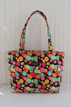 Chocolate Bubbles Boxy Tote Bag by ElisaLou on Etsy, $70.00