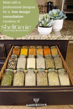 Spice up your kitchen with one of over 20 custom made solutions! Learn how today!