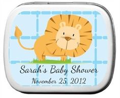 Lion Baby Shower Favors Mint Tins