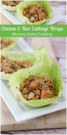 Chicken & Rice Cabbage Rolls