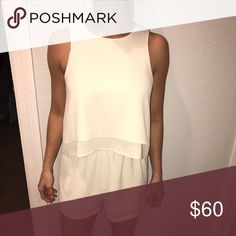 Cream romper Cream romper Urban Outfitters Pants Jumpsuits & Rompers