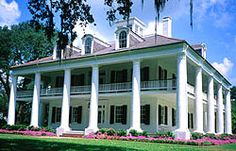 The Houmas house, designed in the Greek Revival style