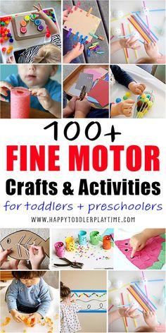 100+ Fine Motor Activities - HAPPY TODDLER PLAYTIME