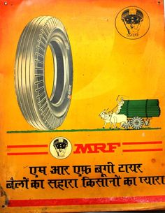India MRF Tyre Advertising Tin Sign Board Size 14x11 Inches #go222