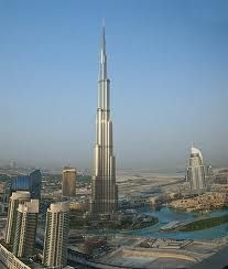The Burj Khalifa in Dubai, the tallest building in the world at 2,717 feet and 163 stories