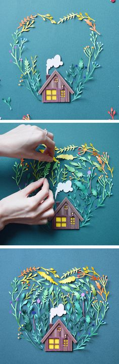 Paper art by Margaret Scrinkl // paper craft // cut paper art // rainbow art