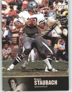 1997 Upper Deck Legends Football Card # 11 Roger Staubach - Dallas Cowboys - NFL Trading Card by Upper Deck. $3.78. 1997 Upper Deck Legends Football Card # 11 Roger Staubach - Dallas Cowboys - NFL Trading Card
