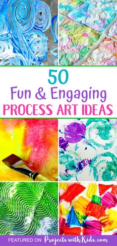 Inspire creativity and fun with these engaging process art projects for kids of all ages Click through to find awesome painting ideas that your kids will love creating projectswithkids Process Art Preschool, Preschool Art, Painting For Kids, Art For Kids, Kid Art, Painting With Toddlers, Painting Ideas For Kids, Dot Painting, Sensory Art