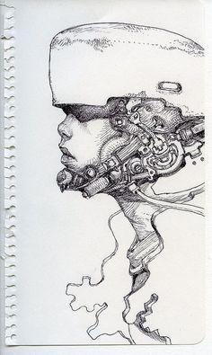 Anime & Manga Art inspiration and artwork by Katsuya Terada #KatsuyaTerada #inspiration #drawingidea #art #artwork #painting #drawings #sketch #artist #drawingideas #anime #manga #blackandwhite