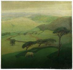 Valerius De Saedeleer (Belgian, 1867-1941), Soir dans les montagnes [Evening in the Mountains], 1918. Oil on canvas, 79 x 82.3 cm.