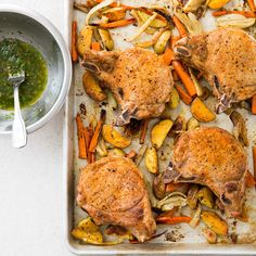 One-Pan Pork Chops and Roasted Vegetables - Cook's Country