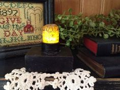 Primitive ~ Inventory Reduction Sale at www.finecountrylivingprimitives.com ~ Drip Nook Battery Operated Candle with Timer