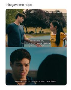 Agggghhhhhh I miss themmmmmm I want to read the books But I made a mistake and watched the movie first Omgggggg Lara Jean, Cute Relationship Goals, Cute Relationships, Love Is Scary, Still Love You, Love Actually, Man In Love, Movie Couples, Movie Lines
