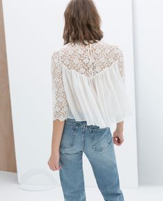 Image 4 of COMBINATION LACE TOP from Zara