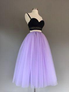 80e7defdf1b4 Tulle skirt, floor length tulle skirt, lavender tutu, tulle skirt, adult tulle  skirt, ANY COLOR