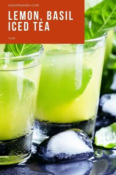 Lemon, Basil Iced Tea Recipe. Iced tea is great for cooling off in the hot summer sun or sipping by the pool on a hot summer day. This sweet and savory iced tea recipe is bound to impress!