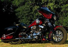 Great bagger example red black chrome